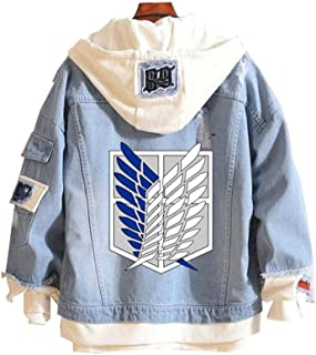 Attack on Titan AOT Anime Cosplay Hoodie Jeansjacke