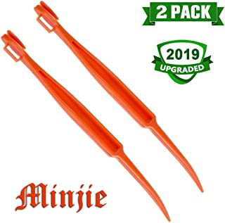 Minjie 2 pcs Citrus Peeler in Bright Orange Color – Replaces Tupperware Peeler Bright Orange