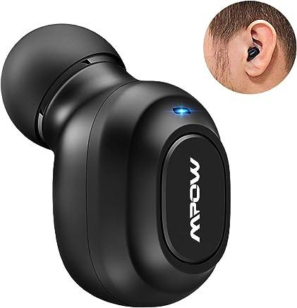 Mpow EM13 Mini Oreillette Bluetooth Invisible sans Fil Kit Oreillette Ecouteur Intra-auriculaire Mono Ecouteur avec Micro Intégré Mains Libres pour iPhone, Samsung, Huawei, Sony, etc.
