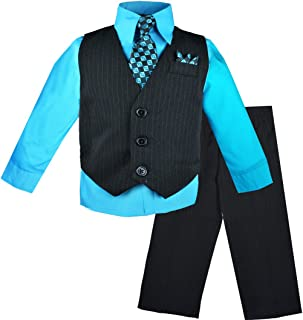 Baby Boys Pinstripe Formal Vest Outfit with Pants