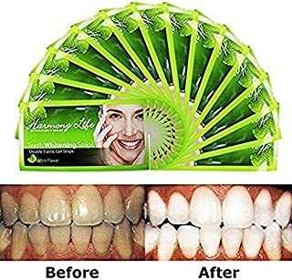 Upgraded Teeth Whitening Strips HP Professional Strength, Advanced Double Elastic Gel Strips, Custom Teeth Bleaching System, 14 Days Supply, Bonus Paper Shade Guide, Mint Flavor