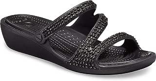 Crocs Women's Patricia Diamante Sandal Slide Black
