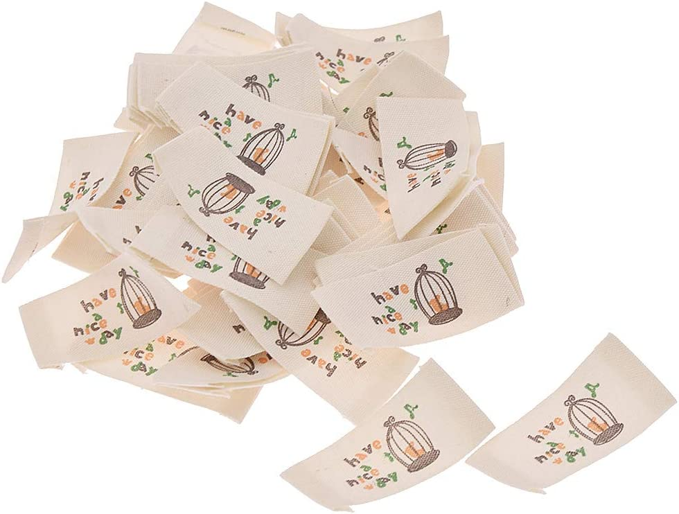 Quilting and Sewing Crafts CHZIMADE 50pcs Cloth Woven Sewing Labels with Cartoon Pattern Essential for Knitting