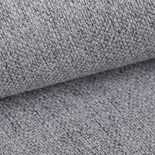 HEKO PANELS Atena Polsterstoff Möbelstoff Meterware - z.B. Stoff für Stühle oder Eckbank Bezug - Hellgrau