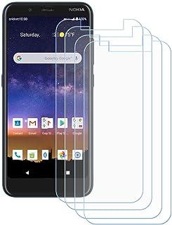 TTJ 4 stycken skottsäkert glas skyddsfilm för Nokia C2 Tava, 9H hårdhet härdat glas pansarglasfilm anti-rep/anti-fingeravt...