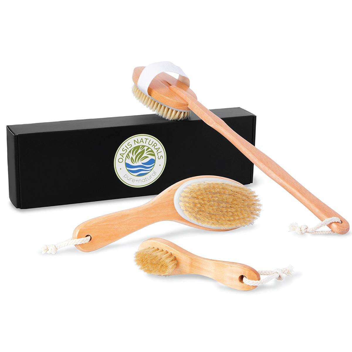 Exfoliating Max 54% OFF Regular store Dry Or Wet Body Wash Brushing Imp Brush Set for