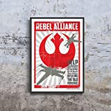Rebel Alliance Restore The Old Republic Join Today Star Wars Propaganda Movie Poster (XL - 24 x 36 icnh (61 x 91 cm))