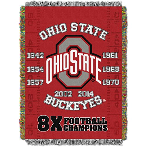 Ohio State Buckeyes NCAA Woven Tapestry Throw (Home Field Advantage) (48x60 )