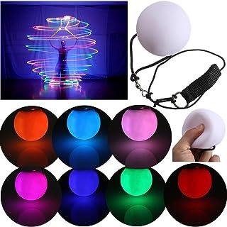 YonganUK - 2 Bolas LED para Malabares con Flujo de luz POI Ball,LED POI Thrown Ball,LED Light Toy,Magic Balls LED para Nivel Profesional de Danza del Vientre