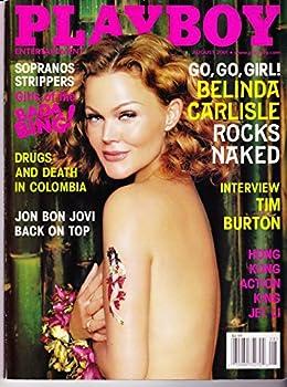 Playboy Magazine August 2001 with Belinda Carlisle from the Go Go s