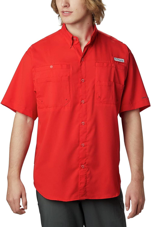 Columbia Men's 海外並行輸入正規品 Tamiami 正規店 II Short Sleeve Tall 4X Shirt Spark Red