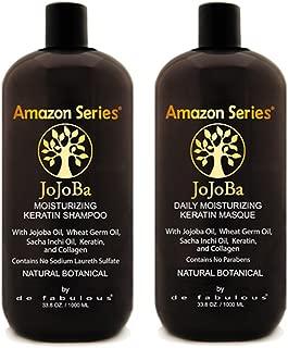 Amazon Series Jojoba Moisturizing Keratin Shampoo & Masque Set 33.8 fl oz