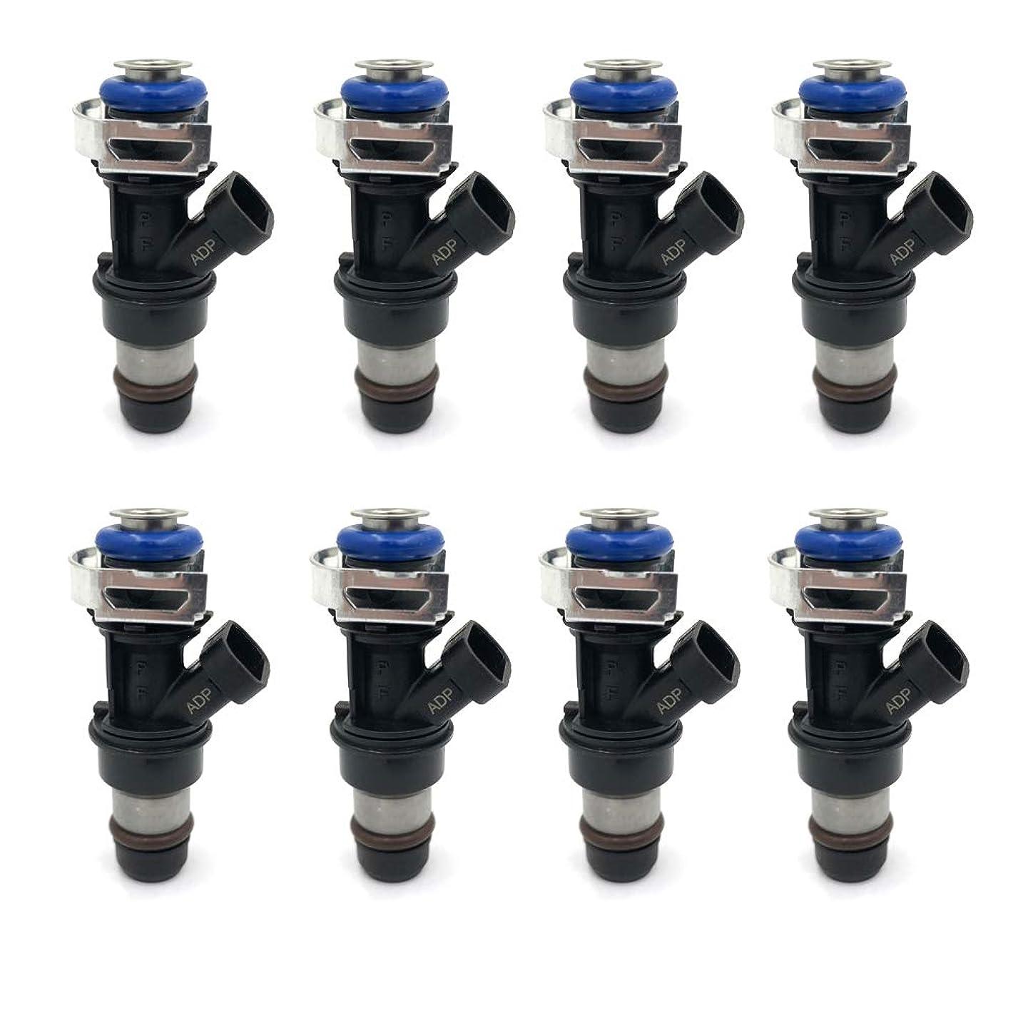 8pcs Fuel injectors 4 Holes for 2001-2007 GMC Sierra Chevy Chevrolet Silverado 1500 2500 3500 Cadillac V8 4.8L 5.3L 6.0L 17113698 FJ10062 up90685483