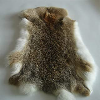 Natural Tanned Rabbit Fur Hide (10