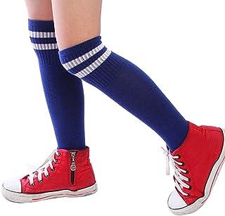 Niños Niños Deporte Fútbol Calcetines Largos de Alta calcetín Béisbol Hockey Calcetines (Azul)