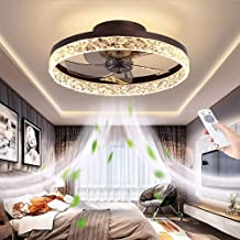 Moderne plafondventilatoren, 50 cm ventilatorlicht met afstandsbediening, dimbaar, instelbare windsnelheid van 60 W, ultra...