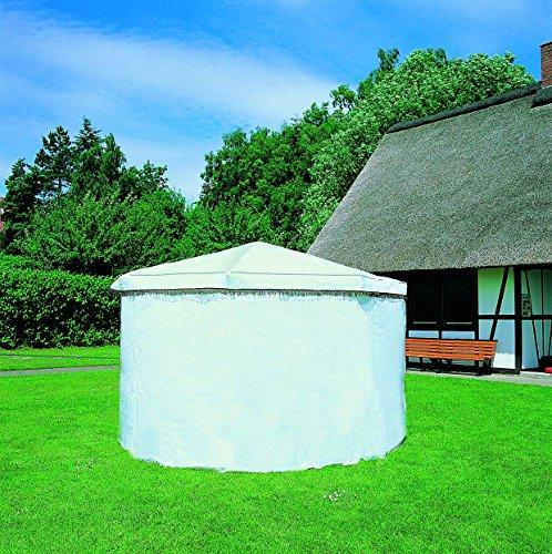 Promadino Wetterschutzumhang für Pavillon Rosenheim weiß
