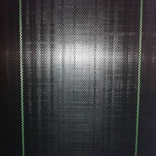 SUREH 16,6 x 4,4 ft strapazierfähige Polypropylen-Gewebte Unkrautschutzmatte für Blumenbeet, Mulch, Pflaster, Randeinfassung