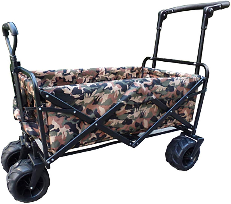 GAIBO Handwagen Klappbarer mit Rder, Bollerwagen Portable Leichtgewicht mit Seitenwnde, für alle Gelnde geeignet (Belastbarkeit 85 kg   187 Pfund),Camouflage C