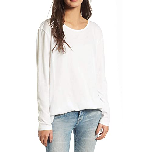 afdb9e8059b Shy Velvet Women Classic Striped Crewneck Long Sleeve T Shirt Side Slit  Tunic Tops