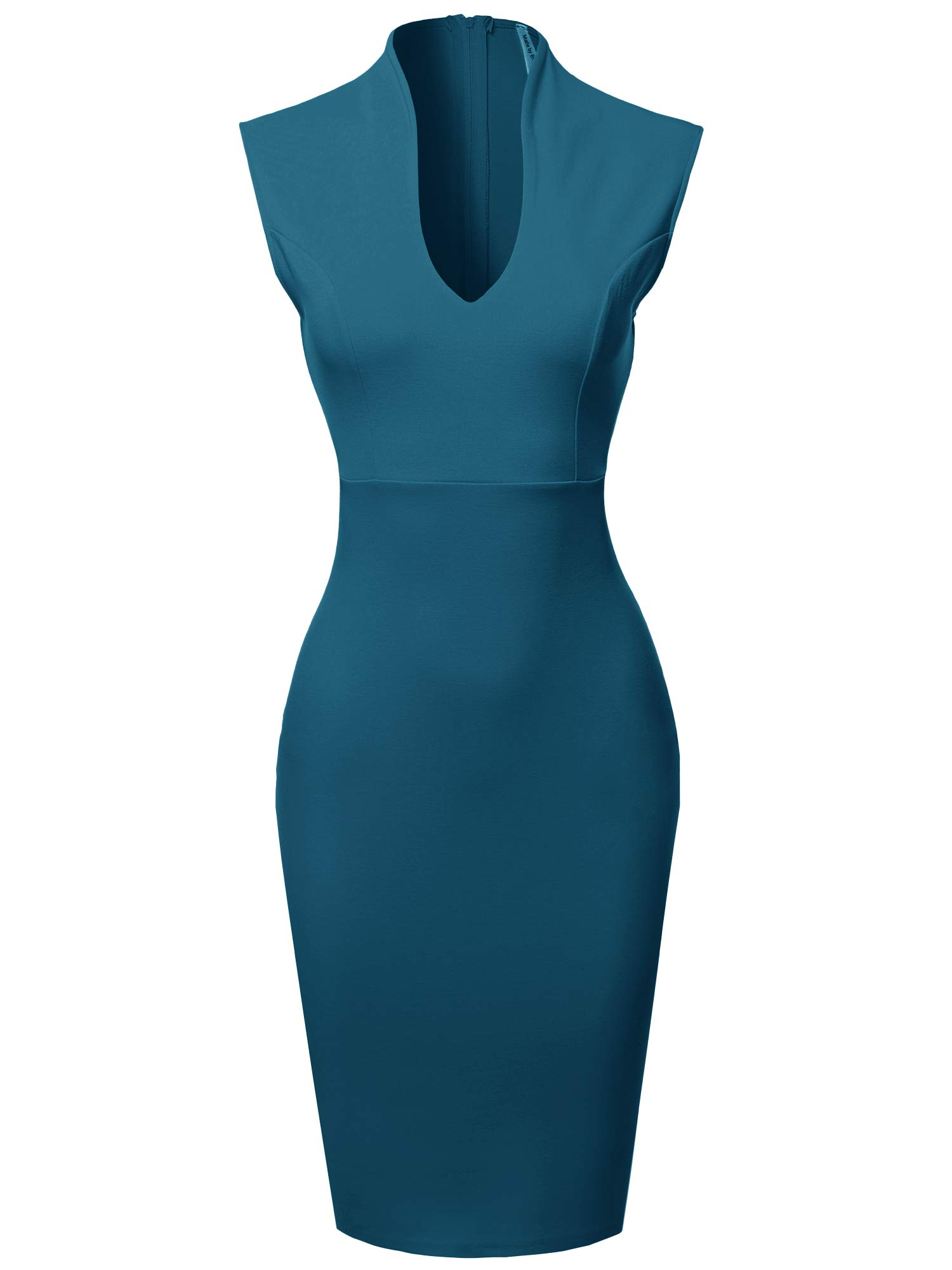 Available at Amazon: Made by Emma Women's Fitted Elegant Sleeveless Formal Cocktail Party Pencil Midi Dress