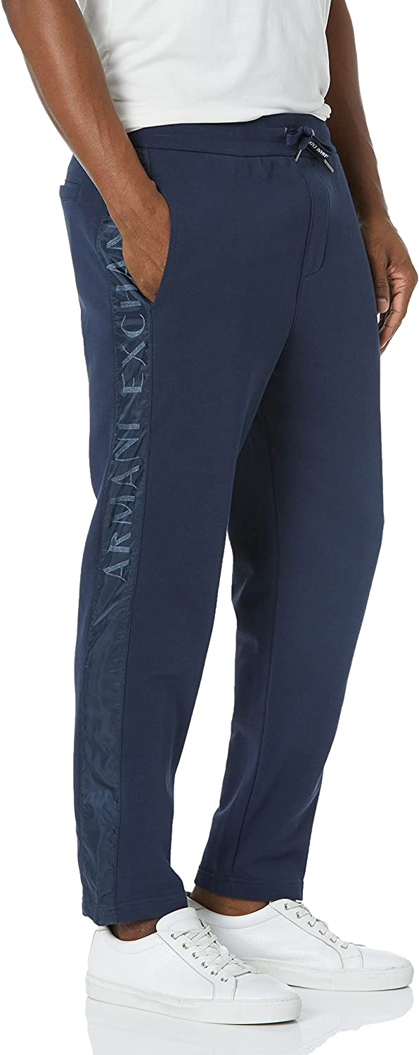 AX Armani Exchange Large special store price Men's Mixed Logo Side Fabric Sweatpants