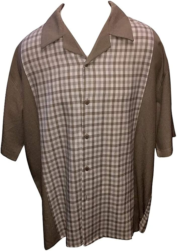 DREAMS Big and Tall Linen Like Casual Shirts Patterned