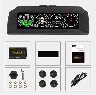 AUTOOL X91 Auto Hud 3 in 1 TPMS, GPS Smart Auto Head Up Display Auto Neigungsmesser Digitales Messgerät für 12 V Fahrzeuge