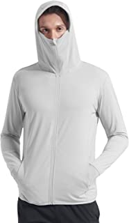 Men's UPF 50+ Zip Sun Protection Jacket Hoodie Shirt SPF/UV with Pocket Fishing Outdoor Shirt
