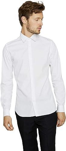 Arrow Chemise Slim fit en Coton uni Blanc