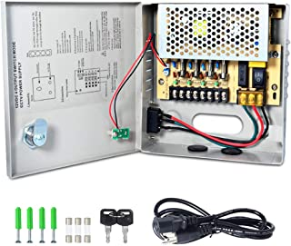 CCTV Power Supply 4CH Channel Port Box, LETOUR Distributed Power Supply for CCTV DVR Security System and Cameras, Output 12V5A Maximum