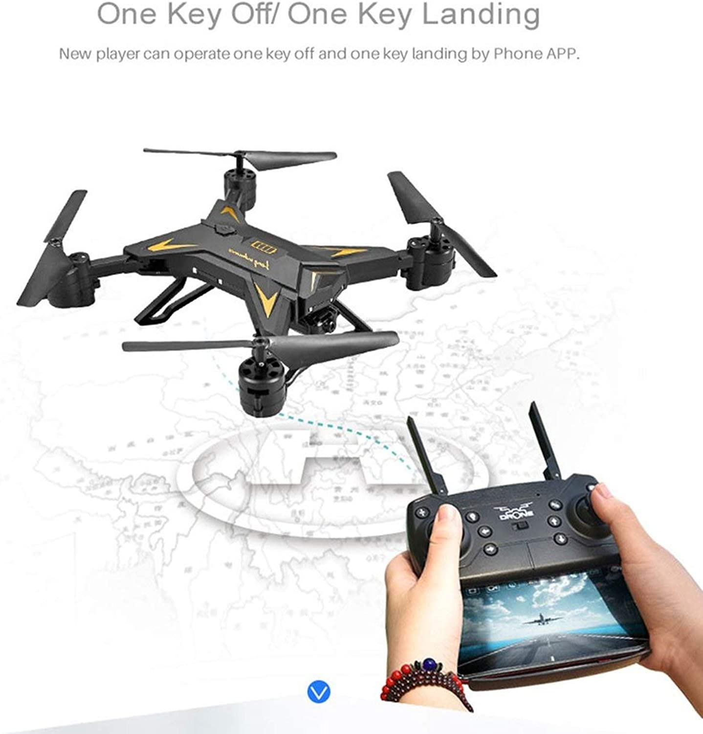 KY601S Full HD 1080P 4 Channel Long Lasting Foldable Arm Remote Control Quadcopter Camera Drone Aircraft(color Black)