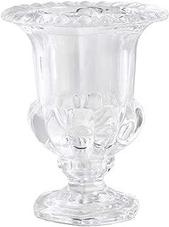 Serene Spaces Living Decorative Large Glass Urn, Centerpiece Vase for Wedding, Event, Measures 9
