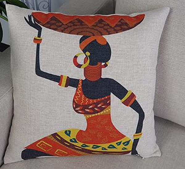 African Indigenous Ethnic Design And Animals Cotton Linen Square Throw Pillow Case Decorative Cushion Cover Pillowcase Sofa 18 X 18 4