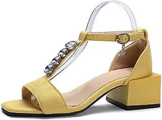 BalaMasa Womens ASL06550 Pu Block Heels