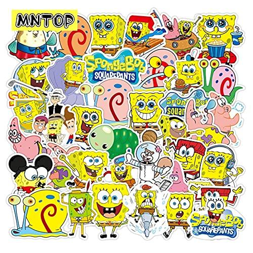 PMSMT 10/30/50/100 unids/Lote Anime Dibujos Animados Estrellas Amarillas Pegatinas para Nevera Maleta patineta Tableta computadora