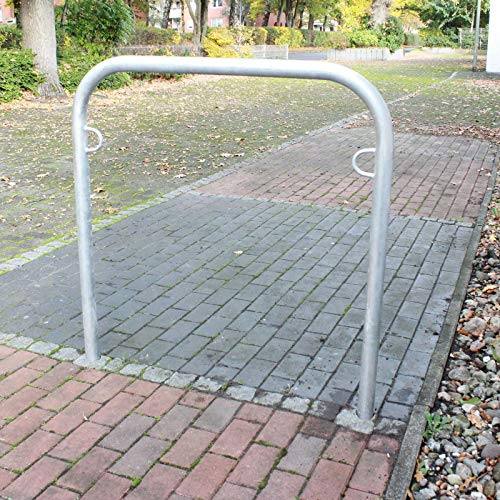 B-Ware (Neuware mit Produktionsfehler) Fahrradanlehnbügel zum Einbetonieren Fahrradständer Anlehnbügel Anlehnständer Poller Ständer feuerverzinkt Fahrradständer Fahrrad Ständer Rad Baumschutzbügel