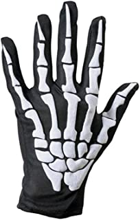 UOKNICE Halloween Skull Bone Skeleton Goth Racing Full Finger Gloves