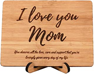 Zuaart I Love You Mom Greeting Card Handmade With Mother's day gift – You deserve all the love, care and support that you've lovingly given every day of my life - perfect birthday card for your mother
