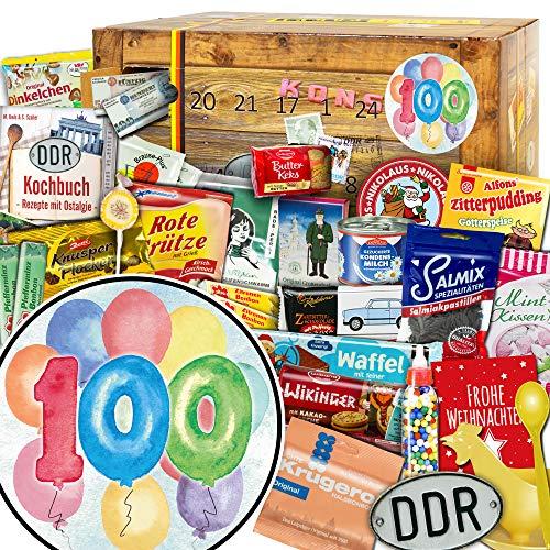 Geschenk zum 100 / DDR Advent Kalender / Kalender Advent Schokolade