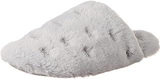 Dearfoams Women's Cozy faux fur Giftable Scuff Slippers with Accessory