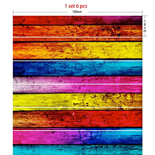 Trap stickers 3D Heldere Kleur Home Decoratie Waterdichte Verwijderbare Muursticker Geen Lijmresten (100×18cm)*6 Stks