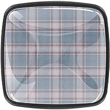 Geruite lichte doek dressoir lades trekt kabinetsknop decoratieve meubels knoppen kasten vierkante knoppen (4 stuks)