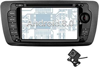 Ohok 2 DIN Android 8.0 Autoradio 7 Pulgadas Oreo Octa Core 4GB Ram 32GB ROM Reproductor DVD/GPS Navegador Soporta Bluetooth WiFi AV-IN para Seat Ibiza con Camara Trasera