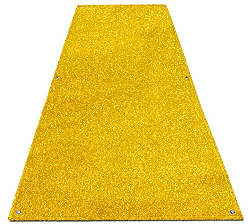 House, Home and More Outdoor Turf Wedding Aisle Runner - Yellow - 3 Feet x 10 Feet