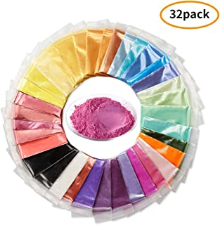Mica Powder Set - 32 Color 320g/11.3oz Perfect for Epoxy Resin Color Pigment, Soap Making, Slime, Bath Bombs…