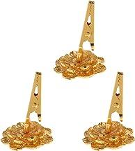 Prettyia 3 Pieces Religious Brass Incense Coils Clip Holder Frame Incense Coil Stick -Base Diameter : Approx. 3cm/1.18inch