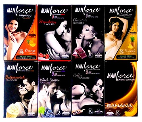 Manforce 3In 1 Extra Dotted & Stamina Condom – 10S, Pack of 8