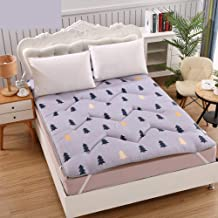 Quilted Fitted Mattress for Student Dormitory,Thicken Tatami Mattress Pad Single Mattress,Reactive Printing and Dyeing,Fol...