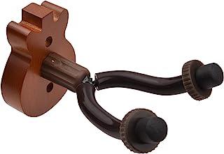 Moniel Suporte de suporte de parede de guitarra de madeira maciça Suporte de suporte de gancho de parede com barras de met...